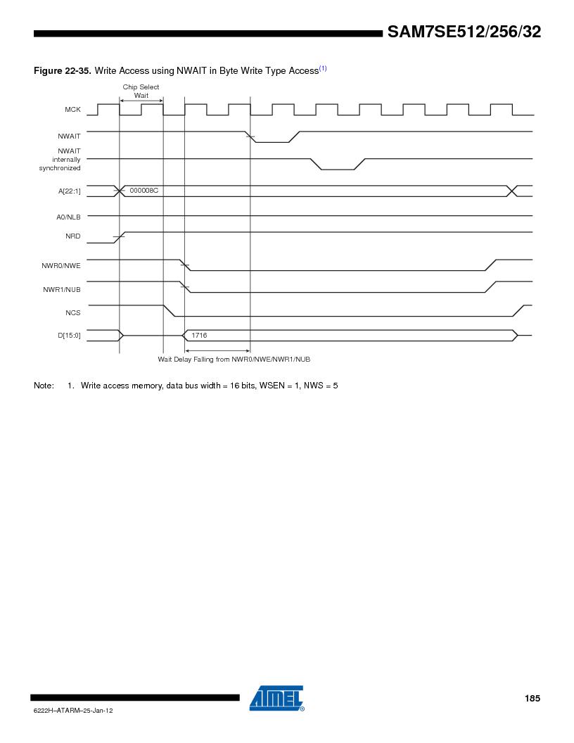 AT91SAM7SE512B-CUR ,Atmel厂商,IC ARM7 MUC FLASH 512K 144-LFBGA, AT91SAM7SE512B-CUR datasheet预览  第185页