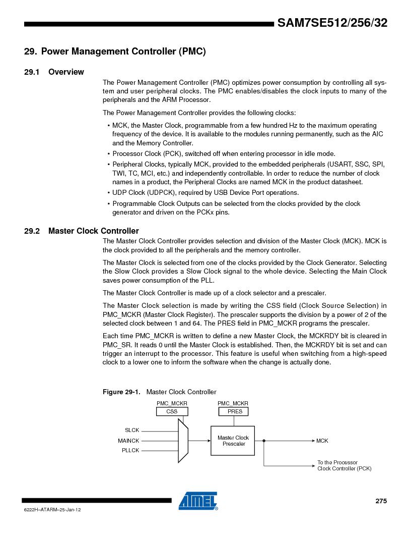 AT91SAM7SE512B-CUR ,Atmel厂商,IC ARM7 MUC FLASH 512K 144-LFBGA, AT91SAM7SE512B-CUR datasheet预览  第275页