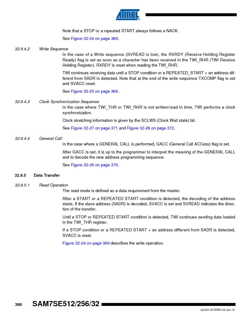 AT91SAM7SE512B-CUR ,Atmel厂商,IC ARM7 MUC FLASH 512K 144-LFBGA, AT91SAM7SE512B-CUR datasheet预览  第368页