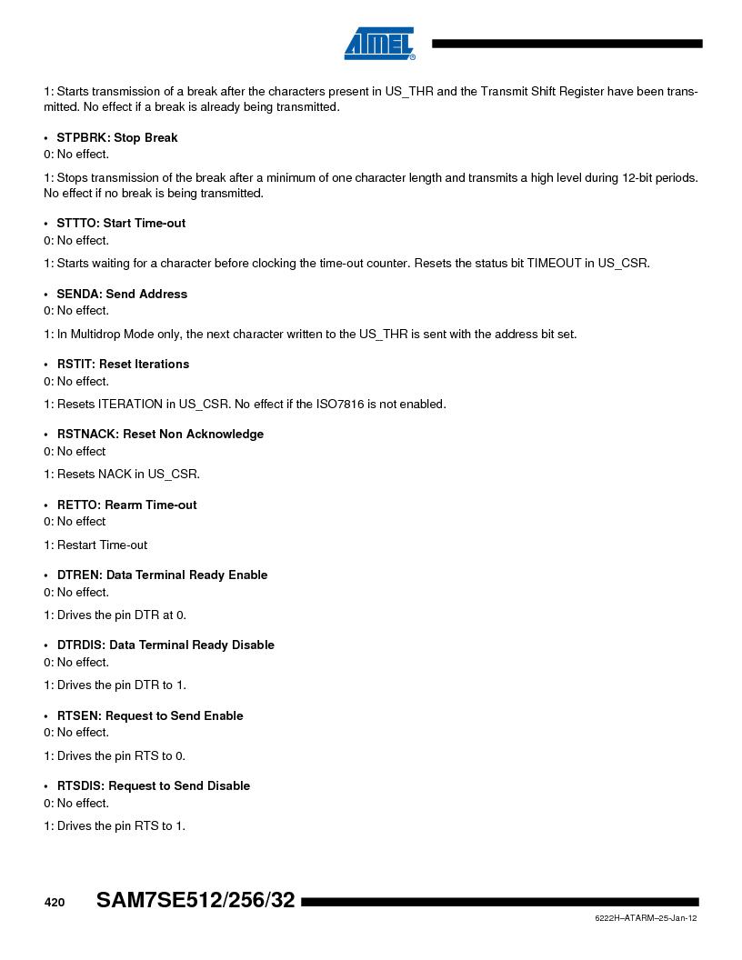 AT91SAM7SE512B-CUR ,Atmel厂商,IC ARM7 MUC FLASH 512K 144-LFBGA, AT91SAM7SE512B-CUR datasheet预览  第420页