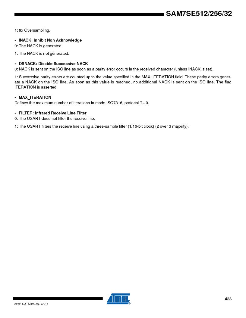 AT91SAM7SE512B-CUR ,Atmel厂商,IC ARM7 MUC FLASH 512K 144-LFBGA, AT91SAM7SE512B-CUR datasheet预览  第423页