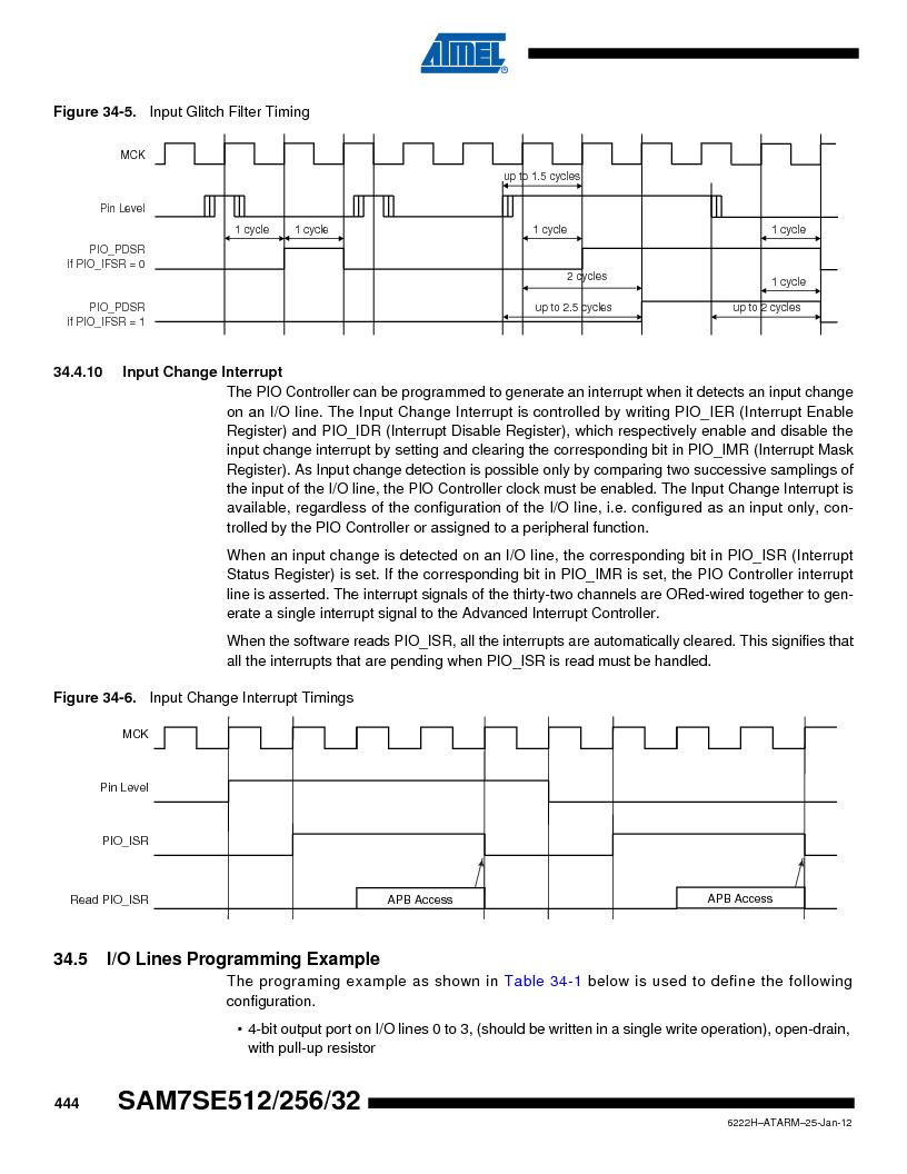 AT91SAM7SE512B-CUR ,Atmel厂商,IC ARM7 MUC FLASH 512K 144-LFBGA, AT91SAM7SE512B-CUR datasheet预览  第444页