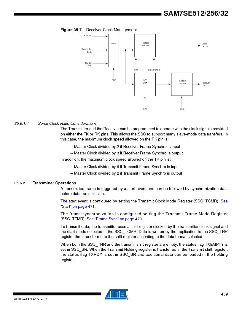 AT91SAM7SE512B-CUR ,Atmel厂商,IC ARM7 MUC FLASH 512K 144-LFBGA, AT91SAM7SE512B-CUR datasheet预览  第469页