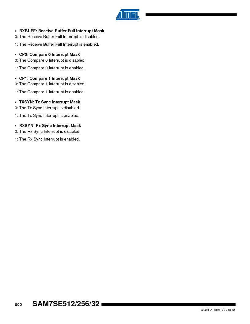 AT91SAM7SE512B-CUR ,Atmel厂商,IC ARM7 MUC FLASH 512K 144-LFBGA, AT91SAM7SE512B-CUR datasheet预览  第500页