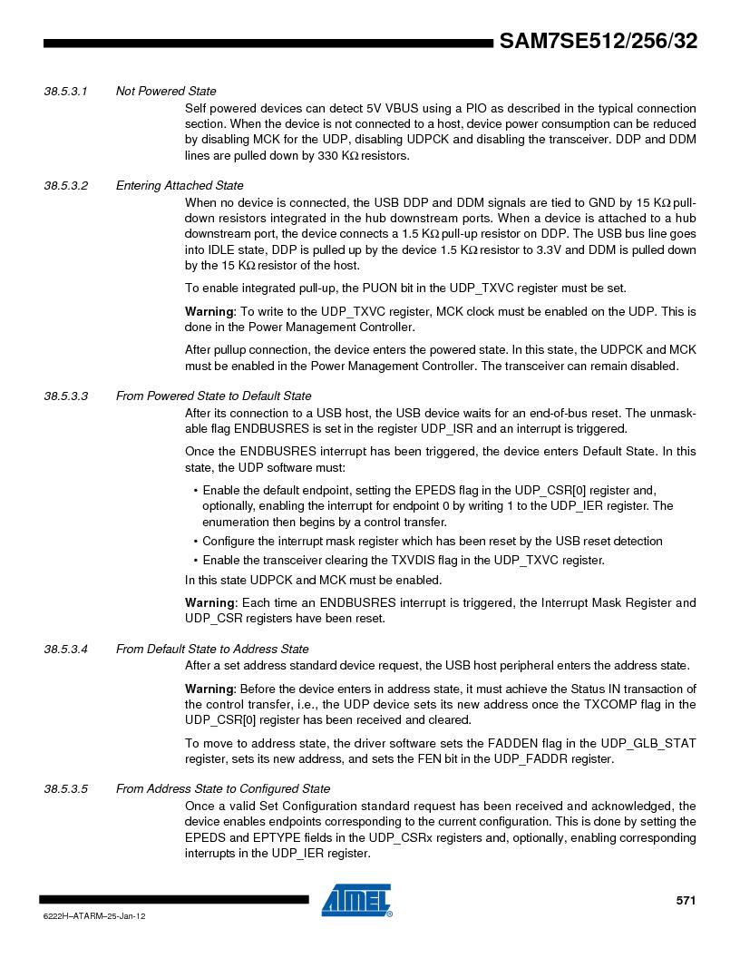 AT91SAM7SE512B-CUR ,Atmel厂商,IC ARM7 MUC FLASH 512K 144-LFBGA, AT91SAM7SE512B-CUR datasheet预览  第571页