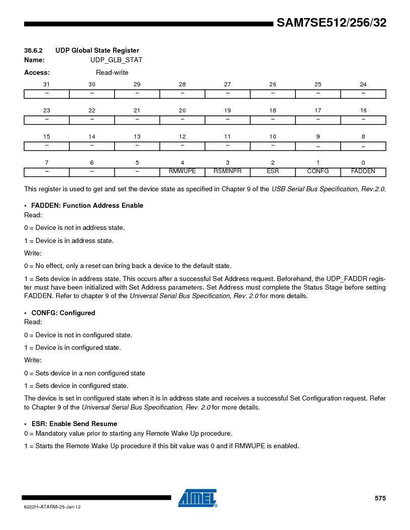 AT91SAM7SE512B-CUR ,Atmel厂商,IC ARM7 MUC FLASH 512K 144-LFBGA, AT91SAM7SE512B-CUR datasheet预览  第575页
