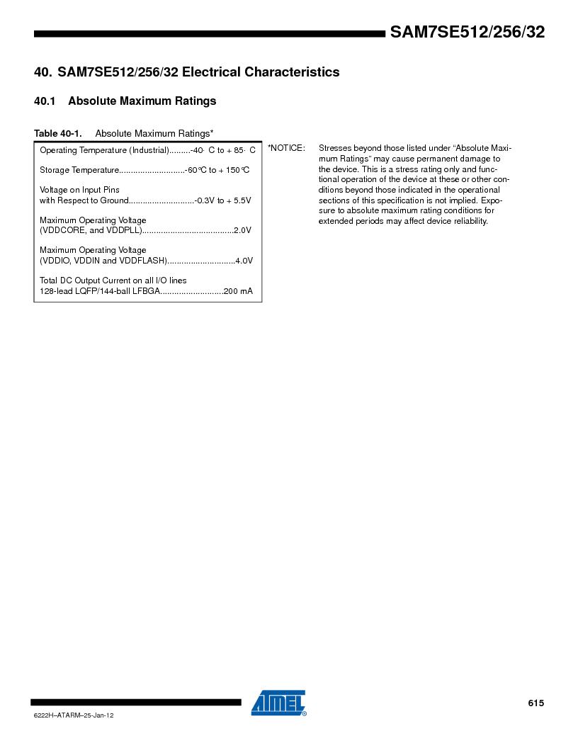 AT91SAM7SE512B-CUR ,Atmel厂商,IC ARM7 MUC FLASH 512K 144-LFBGA, AT91SAM7SE512B-CUR datasheet预览  第615页