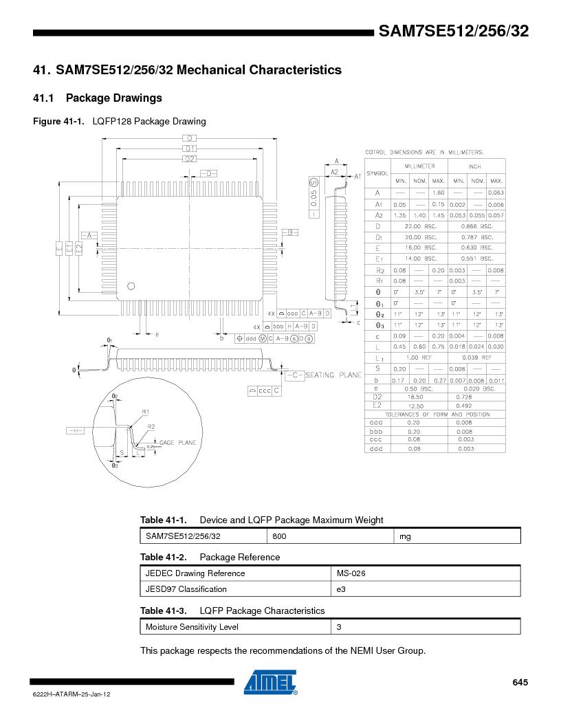 AT91SAM7SE512B-CUR ,Atmel厂商,IC ARM7 MUC FLASH 512K 144-LFBGA, AT91SAM7SE512B-CUR datasheet预览  第645页