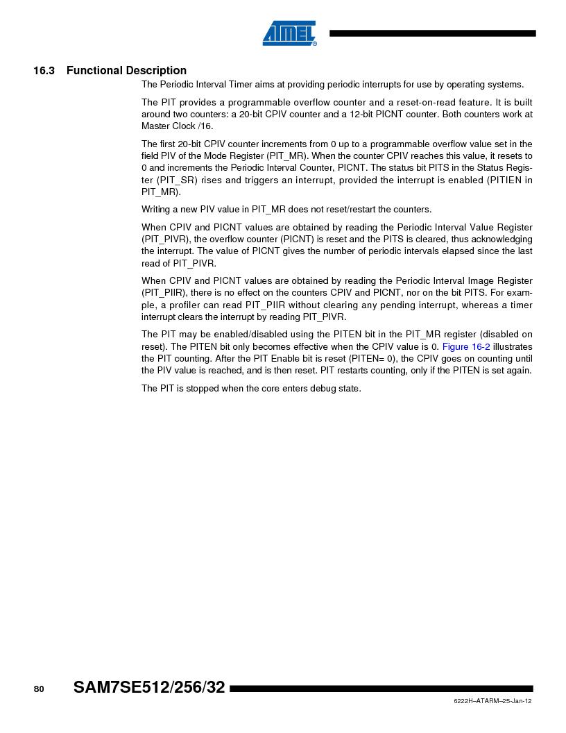 AT91SAM7SE512B-CUR ,Atmel厂商,IC ARM7 MUC FLASH 512K 144-LFBGA, AT91SAM7SE512B-CUR datasheet预览  第80页