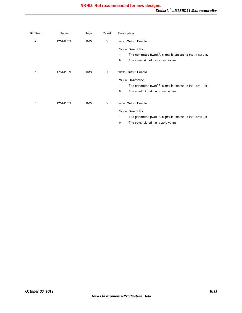 LM3S5C51-IBZ80-A1 ,Texas Instruments厂商,IC ARM CORTEX MCU 512KB 108NFBGA, LM3S5C51-IBZ80-A1 datasheet预览  第1033页
