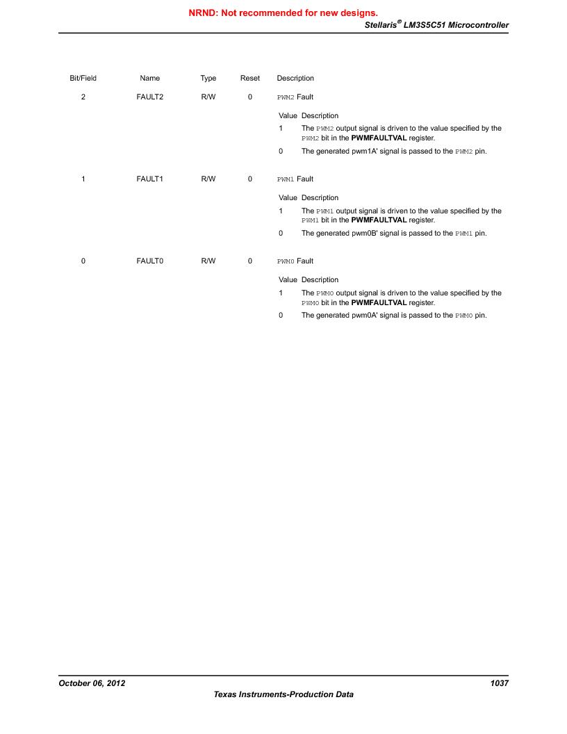 LM3S5C51-IBZ80-A1 ,Texas Instruments厂商,IC ARM CORTEX MCU 512KB 108NFBGA, LM3S5C51-IBZ80-A1 datasheet预览  第1037页