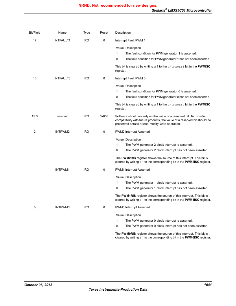 LM3S5C51-IBZ80-A1 ,Texas Instruments厂商,IC ARM CORTEX MCU 512KB 108NFBGA, LM3S5C51-IBZ80-A1 datasheet预览  第1041页