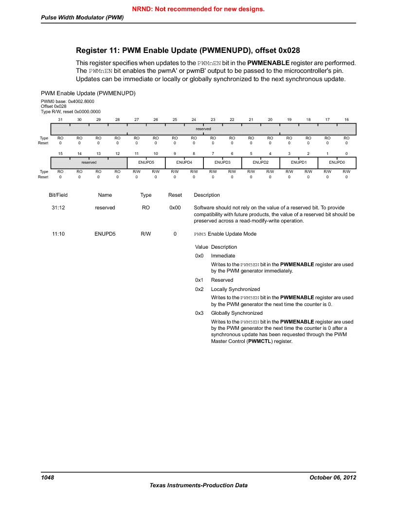 LM3S5C51-IBZ80-A1 ,Texas Instruments厂商,IC ARM CORTEX MCU 512KB 108NFBGA, LM3S5C51-IBZ80-A1 datasheet预览  第1048页