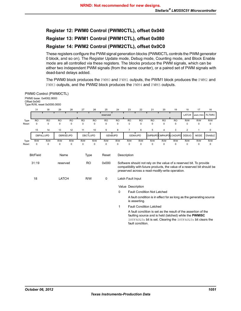 LM3S5C51-IBZ80-A1 ,Texas Instruments厂商,IC ARM CORTEX MCU 512KB 108NFBGA, LM3S5C51-IBZ80-A1 datasheet预览  第1051页