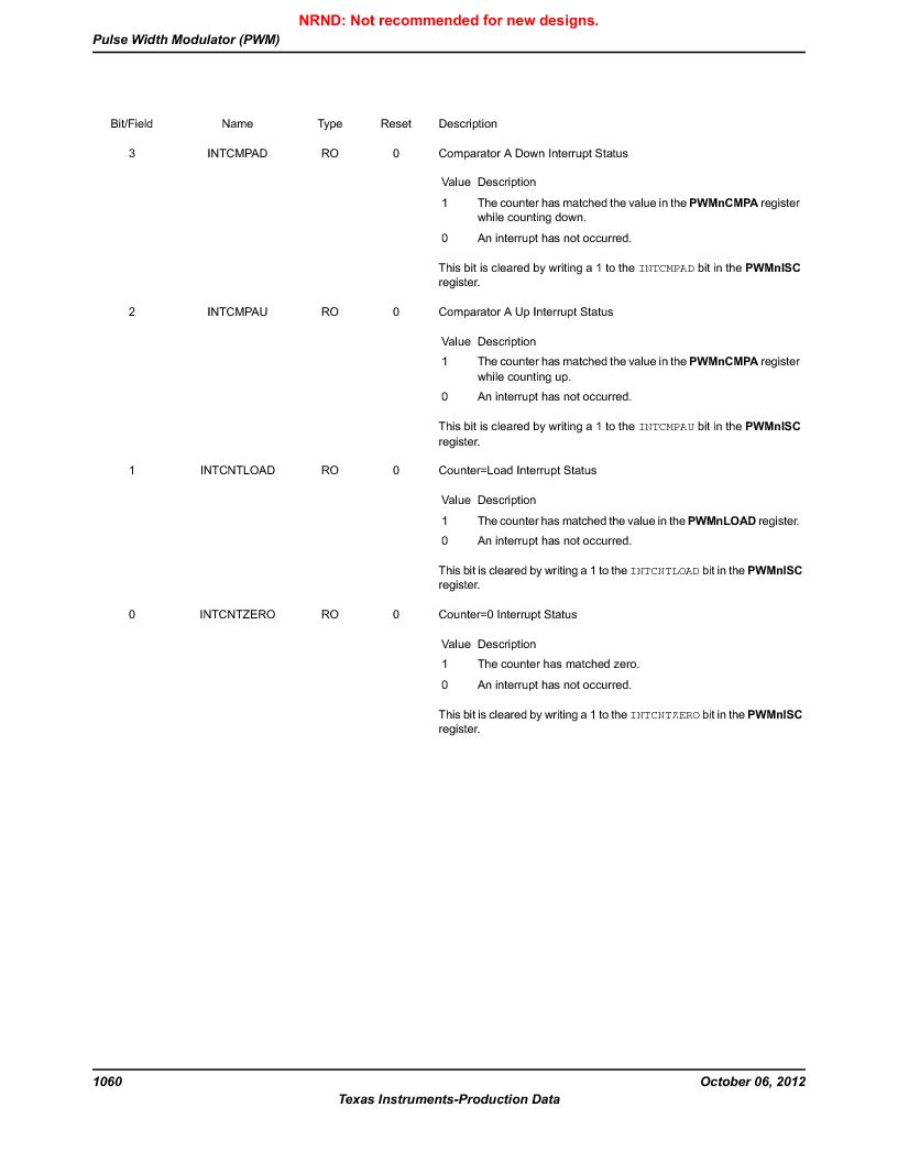 LM3S5C51-IBZ80-A1 ,Texas Instruments厂商,IC ARM CORTEX MCU 512KB 108NFBGA, LM3S5C51-IBZ80-A1 datasheet预览  第1060页