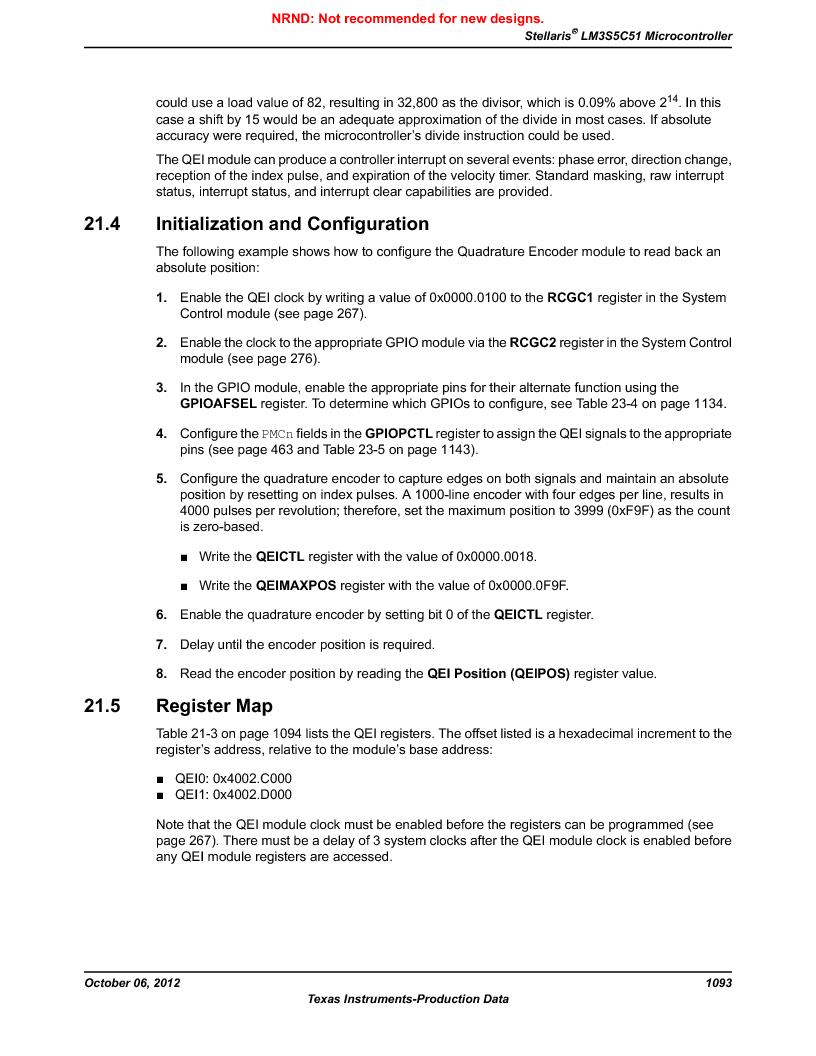 LM3S5C51-IBZ80-A1 ,Texas Instruments厂商,IC ARM CORTEX MCU 512KB 108NFBGA, LM3S5C51-IBZ80-A1 datasheet预览  第1093页