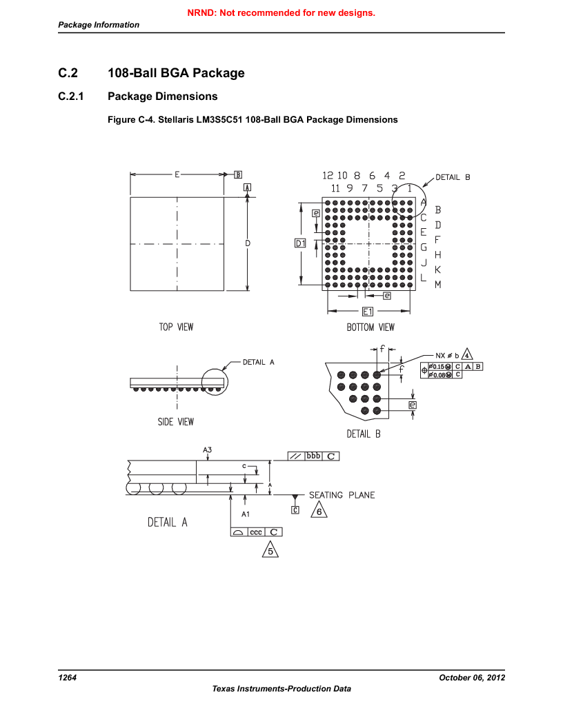 LM3S5C51-IBZ80-A1 ,Texas Instruments厂商,IC ARM CORTEX MCU 512KB 108NFBGA, LM3S5C51-IBZ80-A1 datasheet预览  第1264页