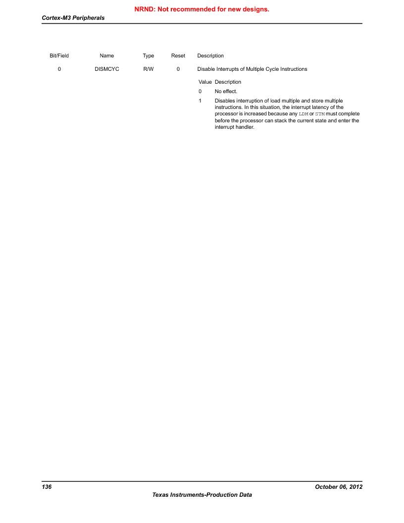 LM3S5C51-IBZ80-A1 ,Texas Instruments厂商,IC ARM CORTEX MCU 512KB 108NFBGA, LM3S5C51-IBZ80-A1 datasheet预览  第136页