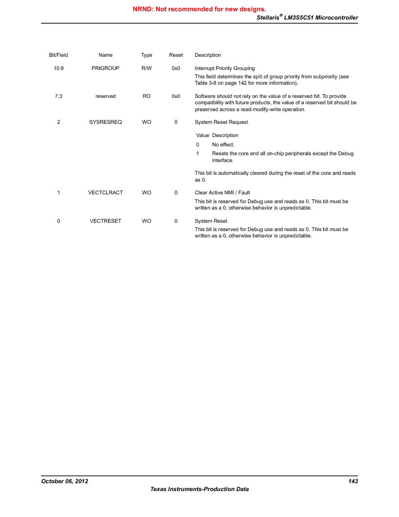 LM3S5C51-IBZ80-A1 ,Texas Instruments厂商,IC ARM CORTEX MCU 512KB 108NFBGA, LM3S5C51-IBZ80-A1 datasheet预览  第143页