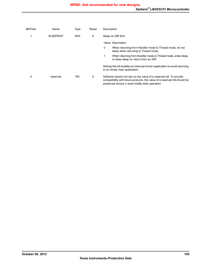 LM3S5C51-IBZ80-A1 ,Texas Instruments厂商,IC ARM CORTEX MCU 512KB 108NFBGA, LM3S5C51-IBZ80-A1 datasheet预览  第145页