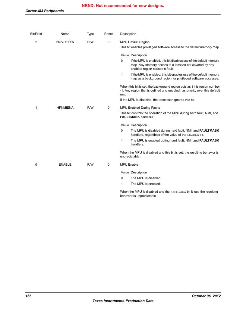 LM3S5C51-IBZ80-A1 ,Texas Instruments厂商,IC ARM CORTEX MCU 512KB 108NFBGA, LM3S5C51-IBZ80-A1 datasheet预览  第166页