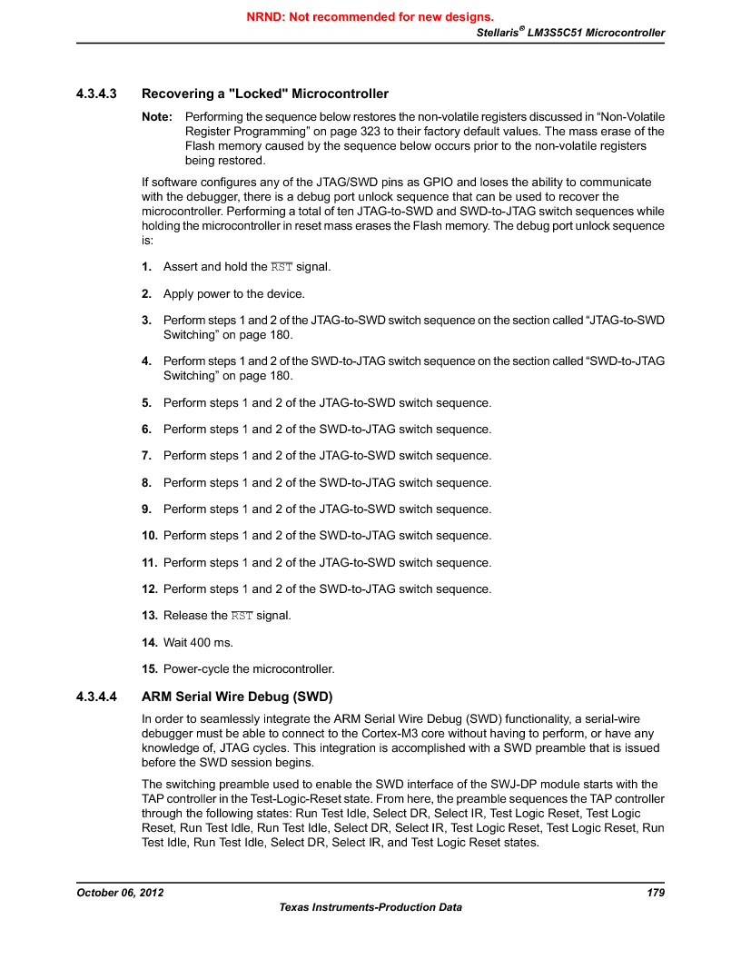 LM3S5C51-IBZ80-A1 ,Texas Instruments厂商,IC ARM CORTEX MCU 512KB 108NFBGA, LM3S5C51-IBZ80-A1 datasheet预览  第179页