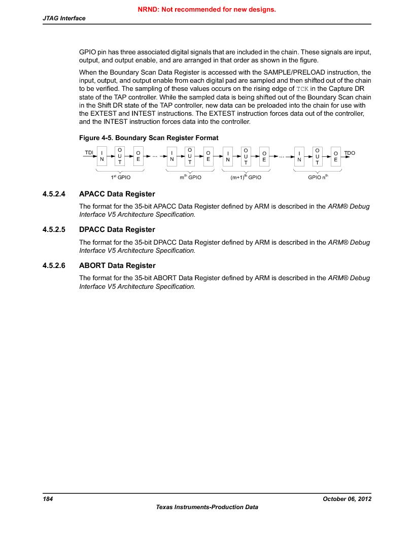 LM3S5C51-IBZ80-A1 ,Texas Instruments厂商,IC ARM CORTEX MCU 512KB 108NFBGA, LM3S5C51-IBZ80-A1 datasheet预览  第184页