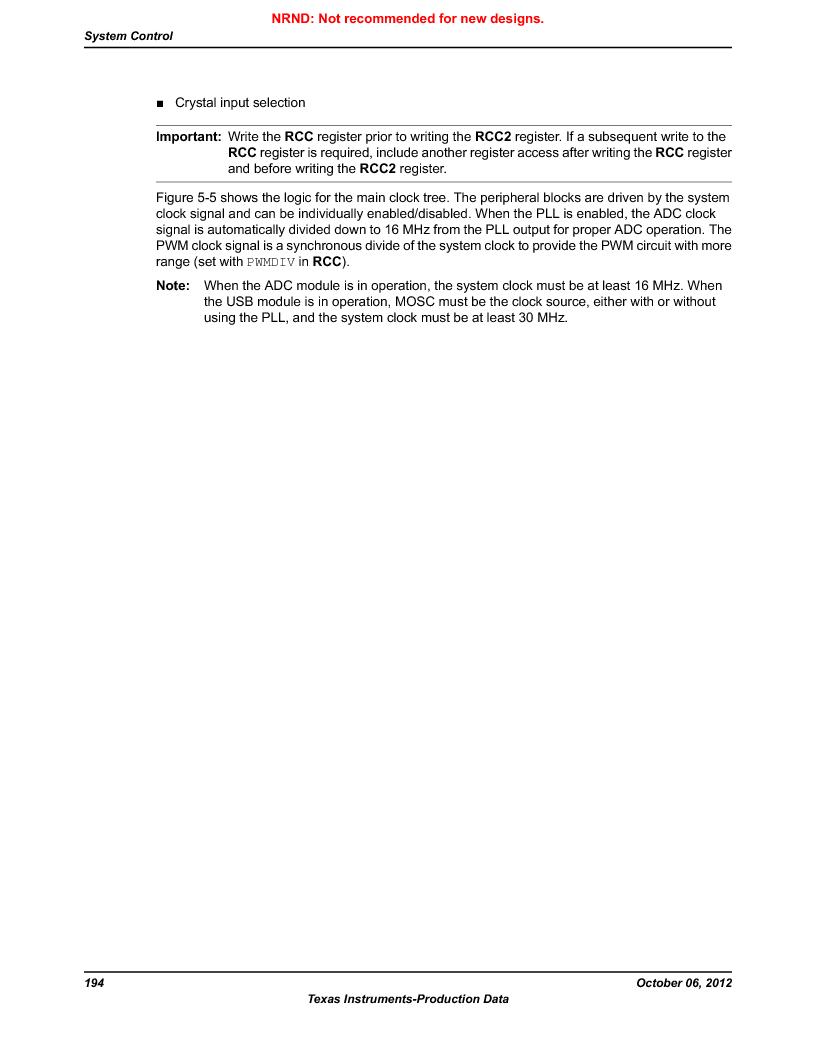 LM3S5C51-IBZ80-A1 ,Texas Instruments厂商,IC ARM CORTEX MCU 512KB 108NFBGA, LM3S5C51-IBZ80-A1 datasheet预览  第194页