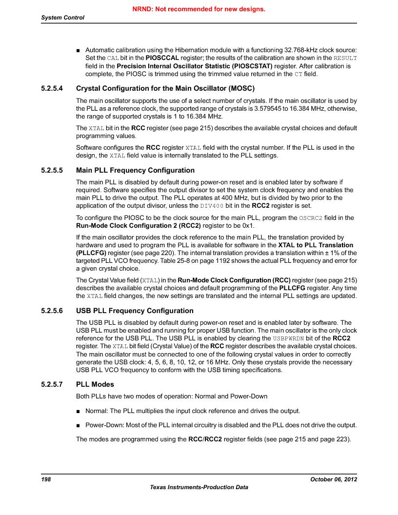 LM3S5C51-IBZ80-A1 ,Texas Instruments厂商,IC ARM CORTEX MCU 512KB 108NFBGA, LM3S5C51-IBZ80-A1 datasheet预览  第198页
