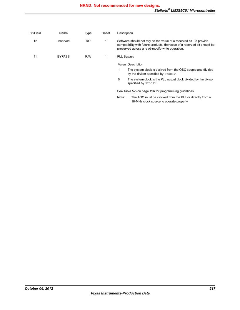 LM3S5C51-IBZ80-A1 ,Texas Instruments厂商,IC ARM CORTEX MCU 512KB 108NFBGA, LM3S5C51-IBZ80-A1 datasheet预览  第217页