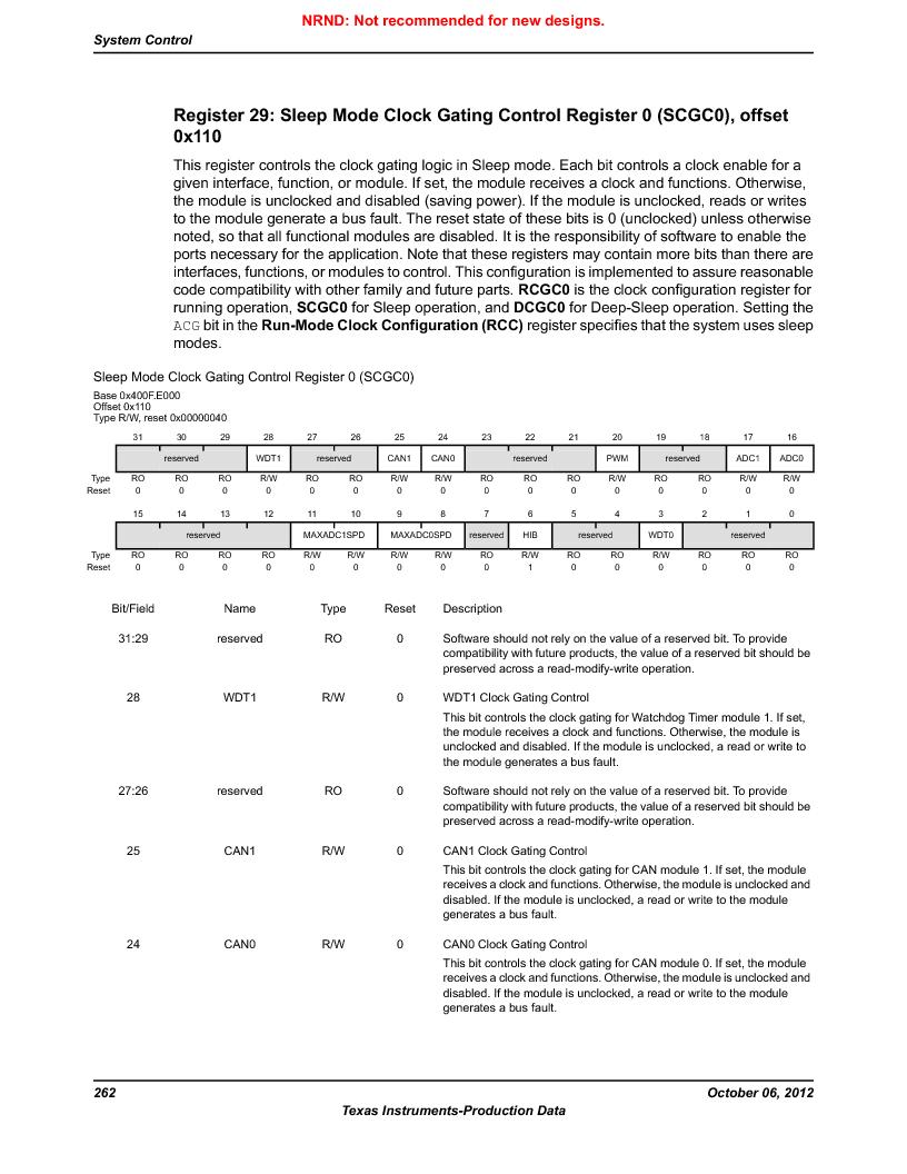LM3S5C51-IBZ80-A1 ,Texas Instruments厂商,IC ARM CORTEX MCU 512KB 108NFBGA, LM3S5C51-IBZ80-A1 datasheet预览  第262页