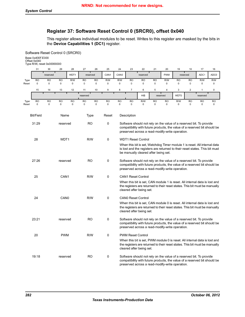 LM3S5C51-IBZ80-A1 ,Texas Instruments厂商,IC ARM CORTEX MCU 512KB 108NFBGA, LM3S5C51-IBZ80-A1 datasheet预览  第282页