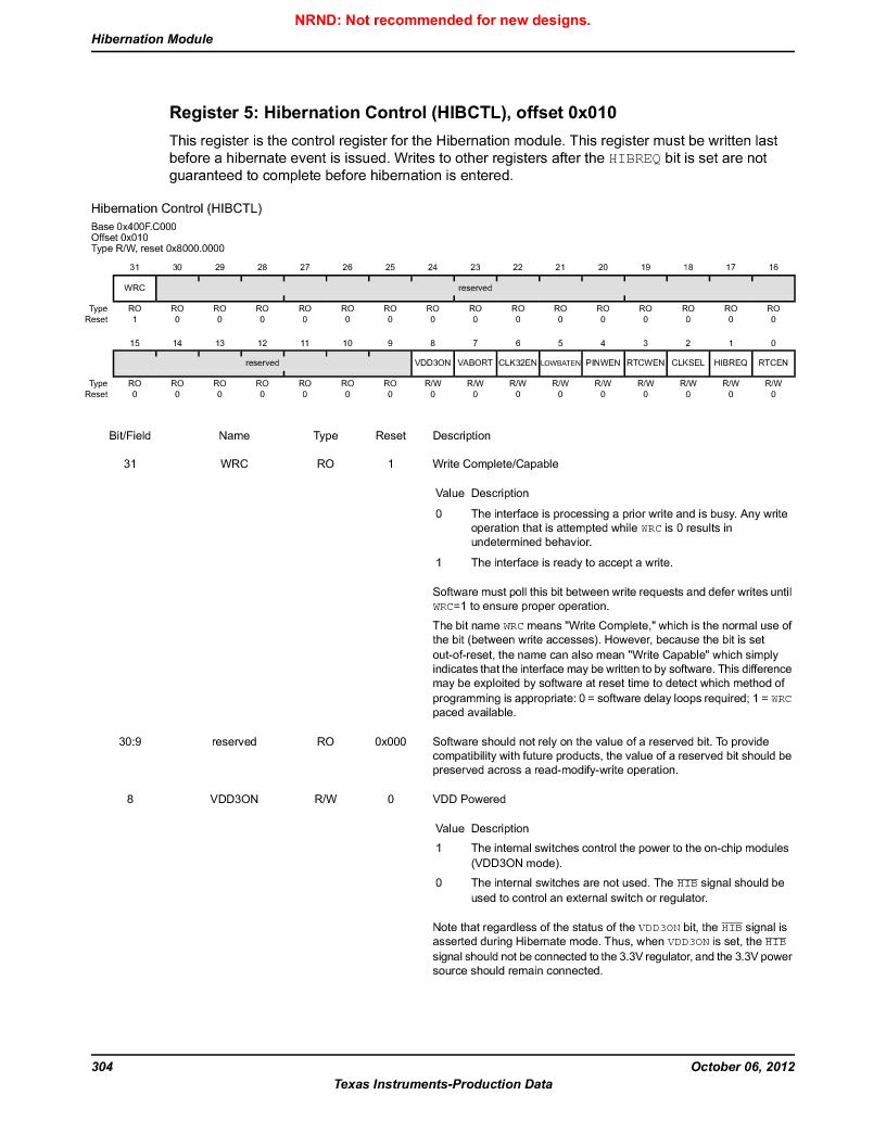 LM3S5C51-IBZ80-A1 ,Texas Instruments厂商,IC ARM CORTEX MCU 512KB 108NFBGA, LM3S5C51-IBZ80-A1 datasheet预览  第304页