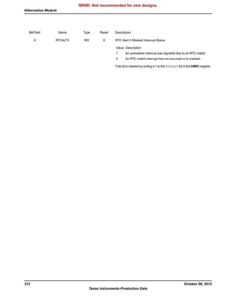 LM3S5C51-IBZ80-A1 ,Texas Instruments厂商,IC ARM CORTEX MCU 512KB 108NFBGA, LM3S5C51-IBZ80-A1 datasheet预览  第312页