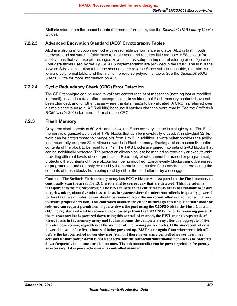 LM3S5C51-IBZ80-A1 ,Texas Instruments厂商,IC ARM CORTEX MCU 512KB 108NFBGA, LM3S5C51-IBZ80-A1 datasheet预览  第319页