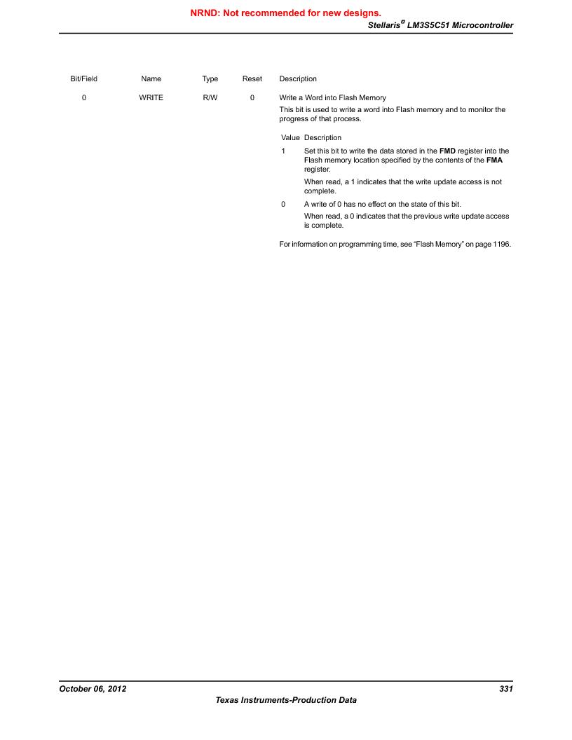 LM3S5C51-IBZ80-A1 ,Texas Instruments厂商,IC ARM CORTEX MCU 512KB 108NFBGA, LM3S5C51-IBZ80-A1 datasheet预览  第331页