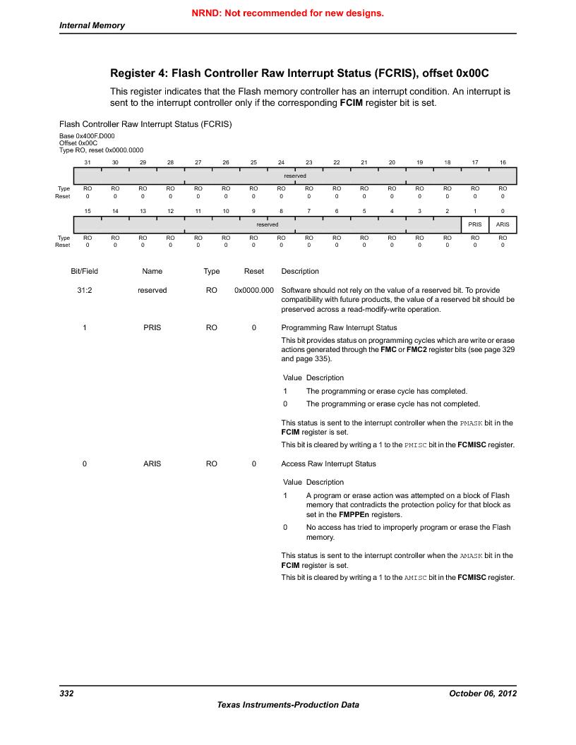 LM3S5C51-IBZ80-A1 ,Texas Instruments厂商,IC ARM CORTEX MCU 512KB 108NFBGA, LM3S5C51-IBZ80-A1 datasheet预览  第332页