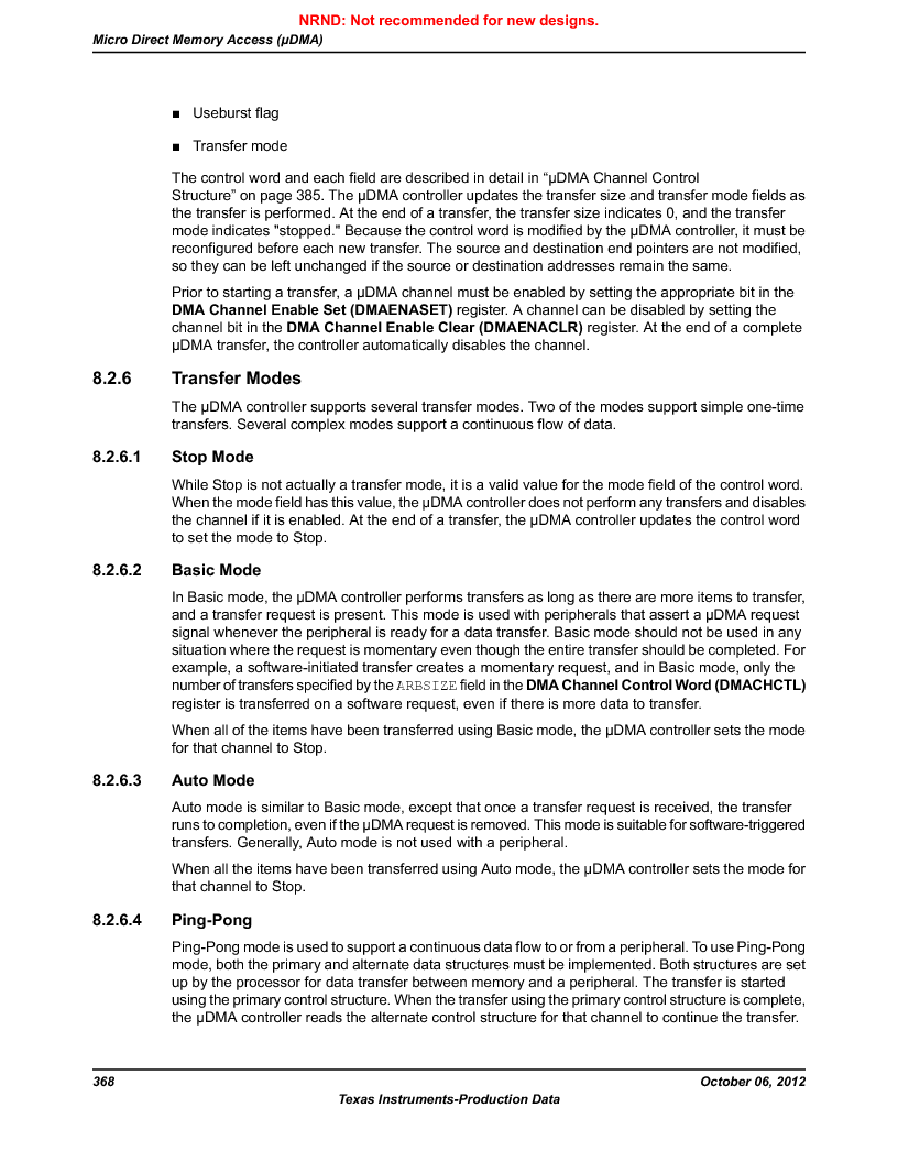 LM3S5C51-IBZ80-A1 ,Texas Instruments厂商,IC ARM CORTEX MCU 512KB 108NFBGA, LM3S5C51-IBZ80-A1 datasheet预览  第368页
