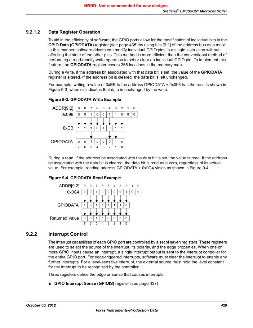 LM3S5C51-IBZ80-A1 ,Texas Instruments厂商,IC ARM CORTEX MCU 512KB 108NFBGA, LM3S5C51-IBZ80-A1 datasheet预览  第429页