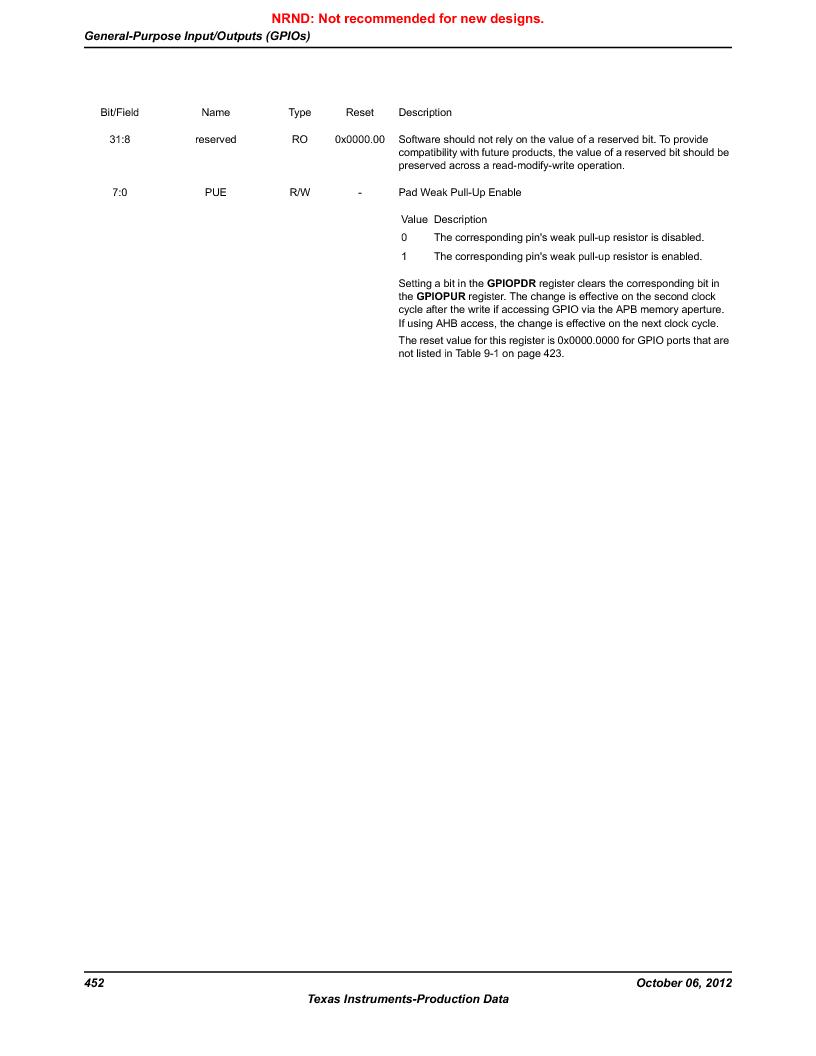 LM3S5C51-IBZ80-A1 ,Texas Instruments厂商,IC ARM CORTEX MCU 512KB 108NFBGA, LM3S5C51-IBZ80-A1 datasheet预览  第452页