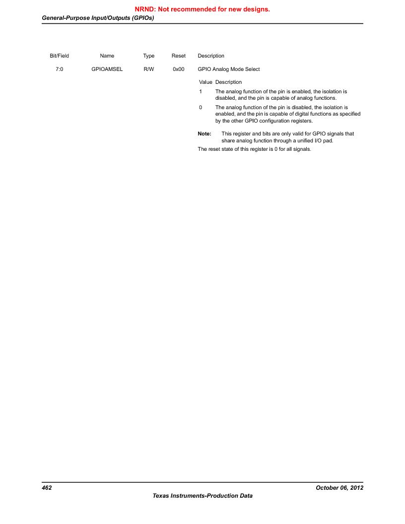 LM3S5C51-IBZ80-A1 ,Texas Instruments厂商,IC ARM CORTEX MCU 512KB 108NFBGA, LM3S5C51-IBZ80-A1 datasheet预览  第462页