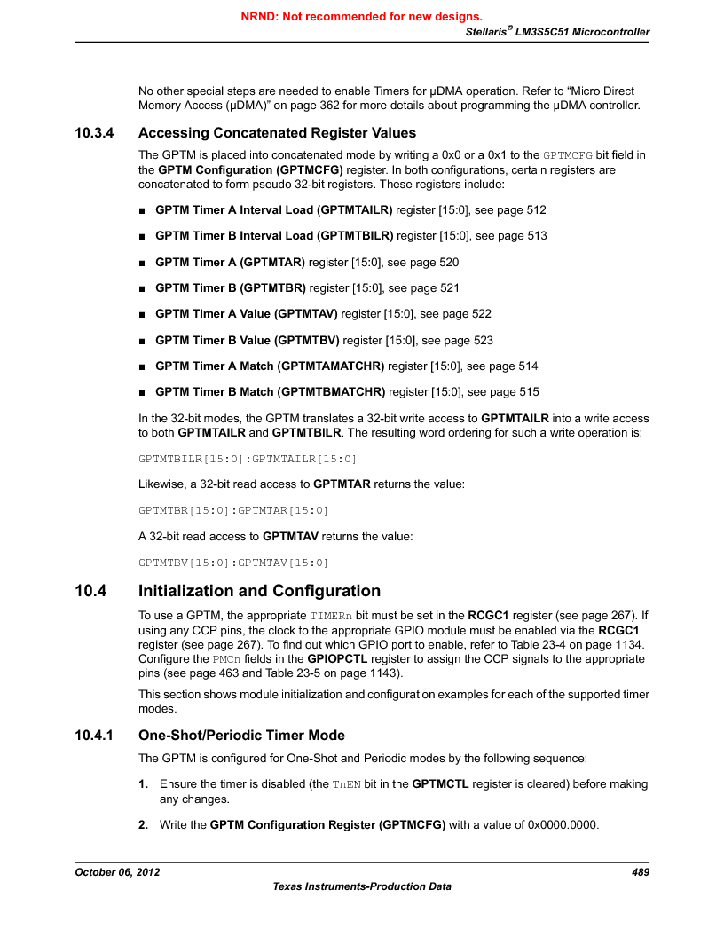 LM3S5C51-IBZ80-A1 ,Texas Instruments厂商,IC ARM CORTEX MCU 512KB 108NFBGA, LM3S5C51-IBZ80-A1 datasheet预览  第489页