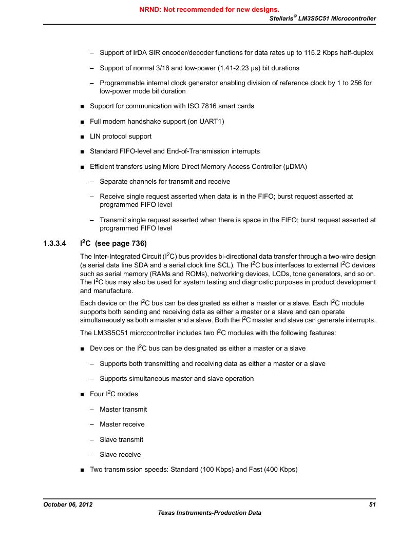 LM3S5C51-IBZ80-A1 ,Texas Instruments厂商,IC ARM CORTEX MCU 512KB 108NFBGA, LM3S5C51-IBZ80-A1 datasheet预览  第51页