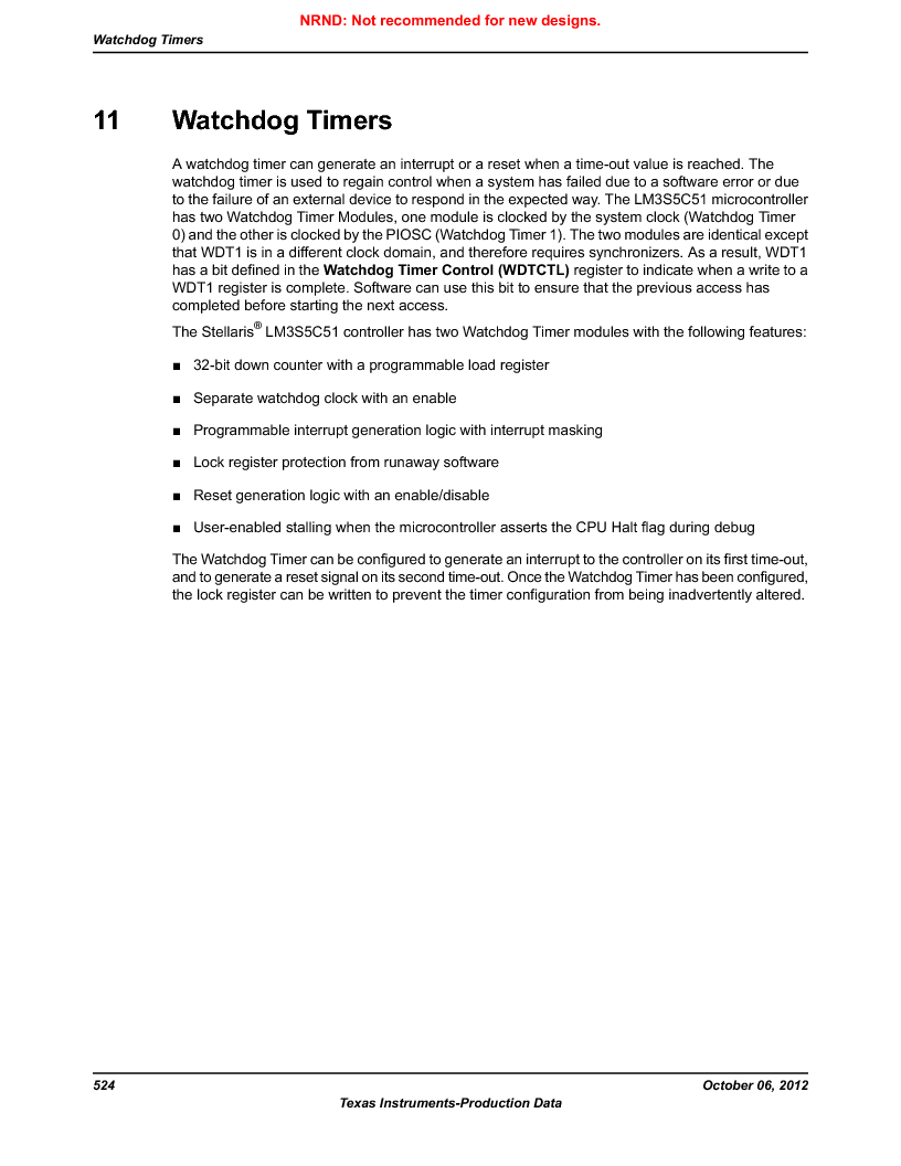 LM3S5C51-IBZ80-A1 ,Texas Instruments厂商,IC ARM CORTEX MCU 512KB 108NFBGA, LM3S5C51-IBZ80-A1 datasheet预览  第524页