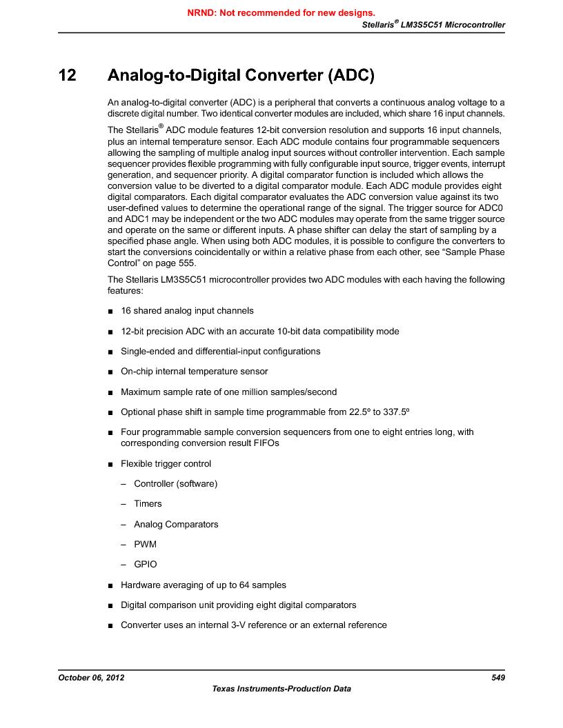 LM3S5C51-IBZ80-A1 ,Texas Instruments厂商,IC ARM CORTEX MCU 512KB 108NFBGA, LM3S5C51-IBZ80-A1 datasheet预览  第549页