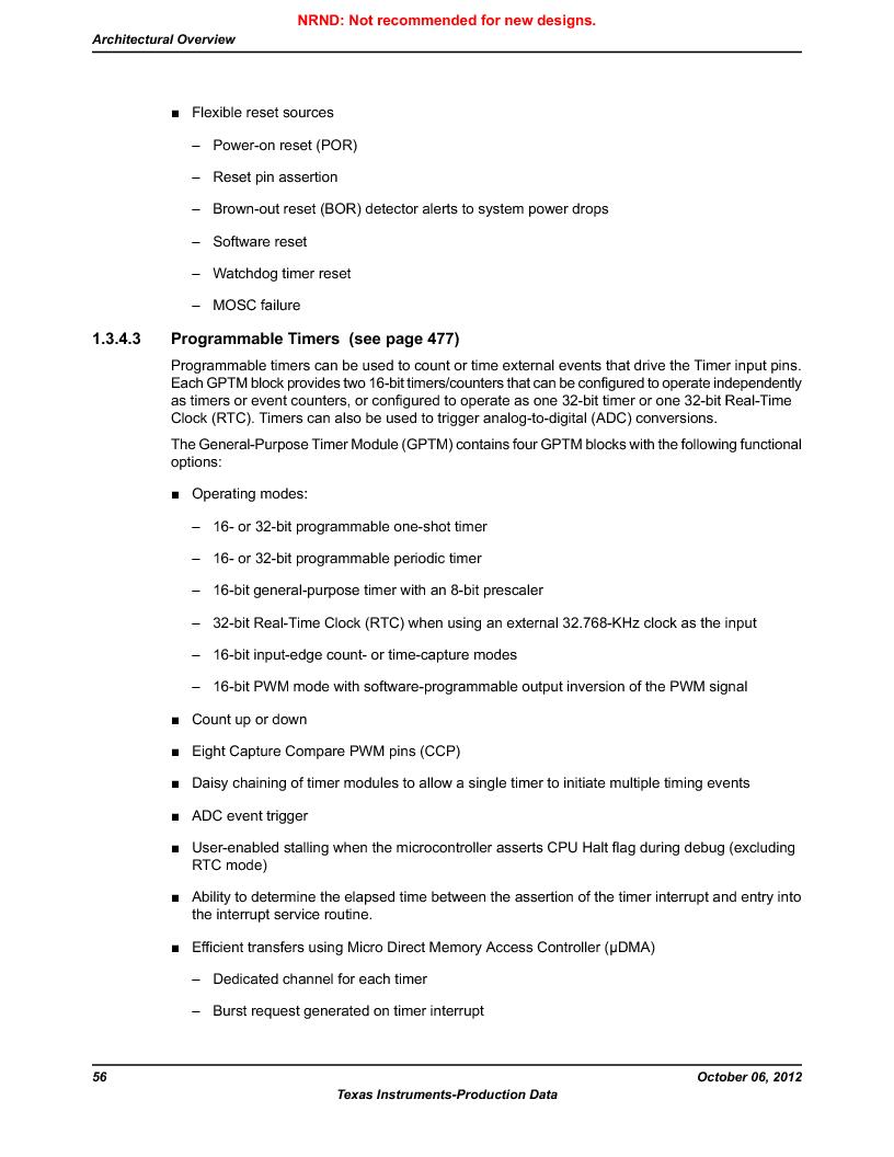 LM3S5C51-IBZ80-A1 ,Texas Instruments厂商,IC ARM CORTEX MCU 512KB 108NFBGA, LM3S5C51-IBZ80-A1 datasheet预览  第56页