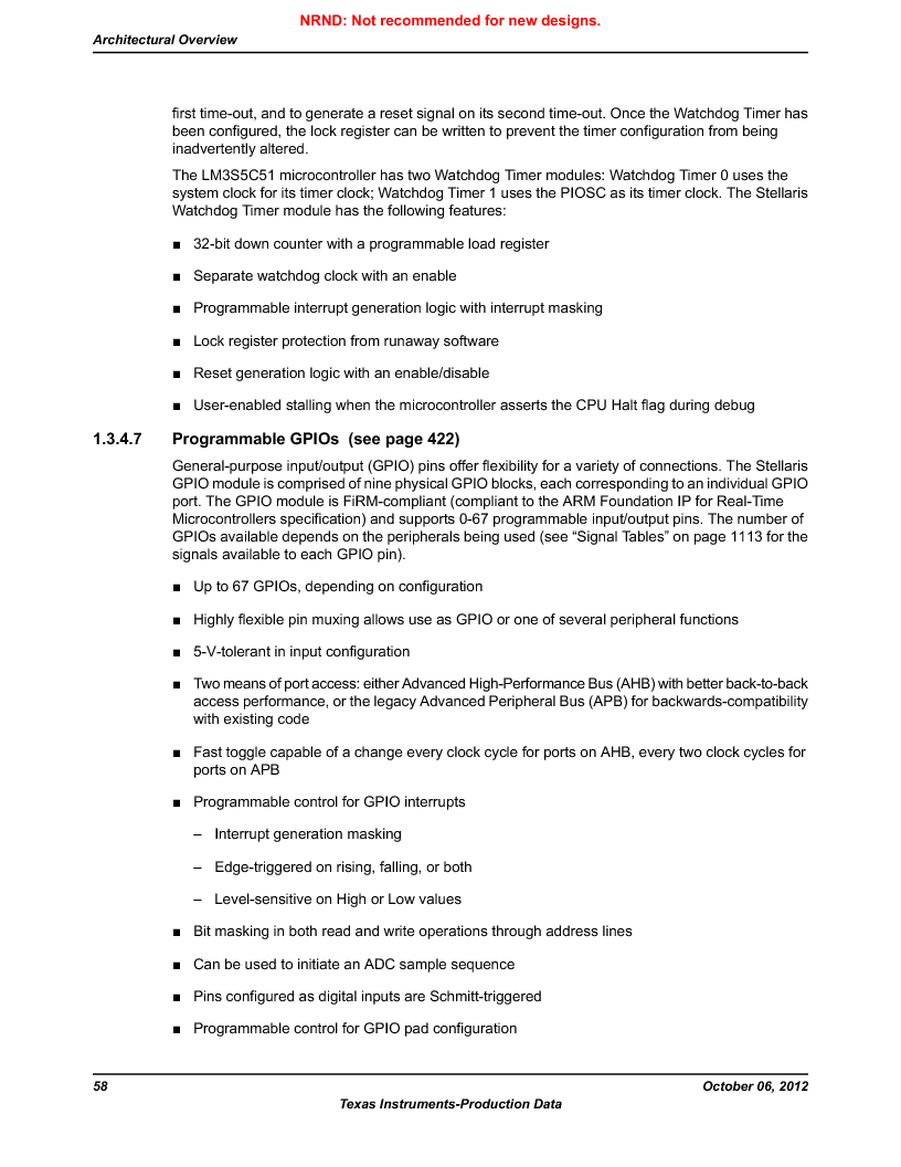 LM3S5C51-IBZ80-A1 ,Texas Instruments厂商,IC ARM CORTEX MCU 512KB 108NFBGA, LM3S5C51-IBZ80-A1 datasheet预览  第58页