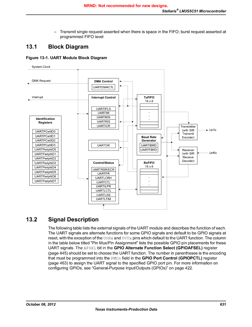 LM3S5C51-IBZ80-A1 ,Texas Instruments厂商,IC ARM CORTEX MCU 512KB 108NFBGA, LM3S5C51-IBZ80-A1 datasheet预览  第631页