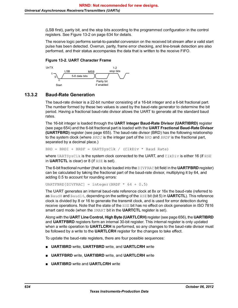 LM3S5C51-IBZ80-A1 ,Texas Instruments厂商,IC ARM CORTEX MCU 512KB 108NFBGA, LM3S5C51-IBZ80-A1 datasheet预览  第634页