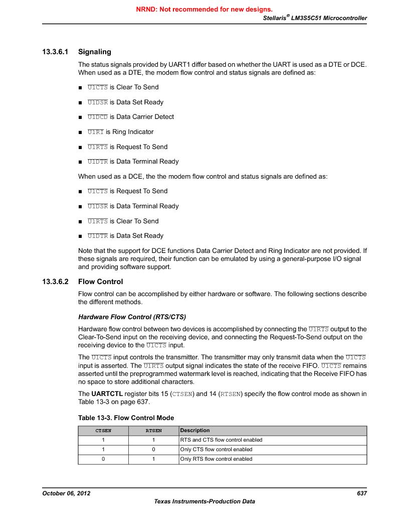 LM3S5C51-IBZ80-A1 ,Texas Instruments厂商,IC ARM CORTEX MCU 512KB 108NFBGA, LM3S5C51-IBZ80-A1 datasheet预览  第637页